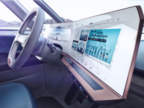 The Active Info Display panel in the Volkswagen BUDD-e concept