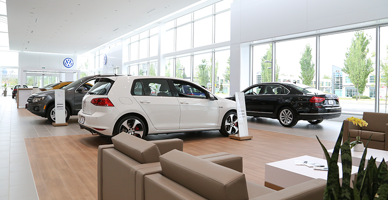 OpenRoad VW Interior of Store