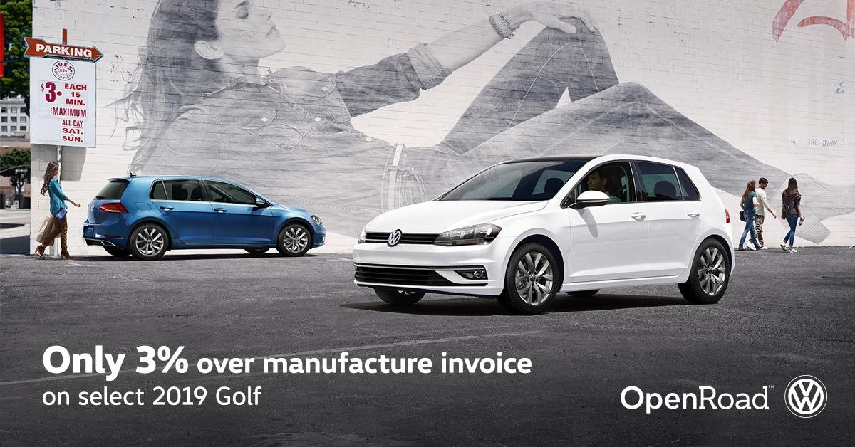 vw golf offers openroad vw