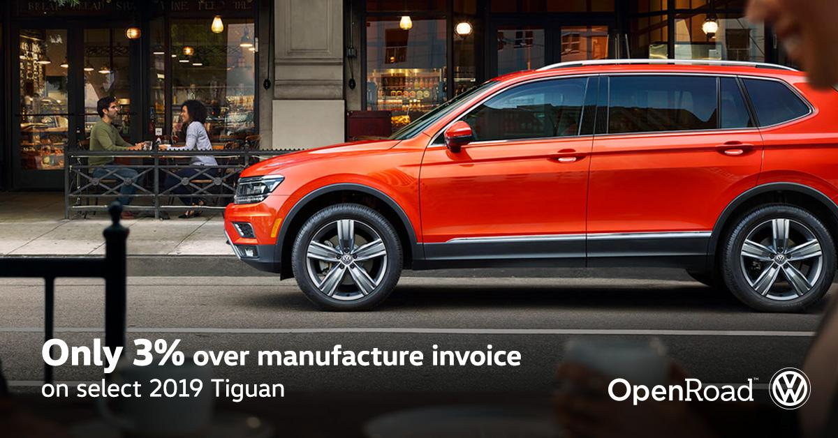 vw tiguan offer at openroad vw