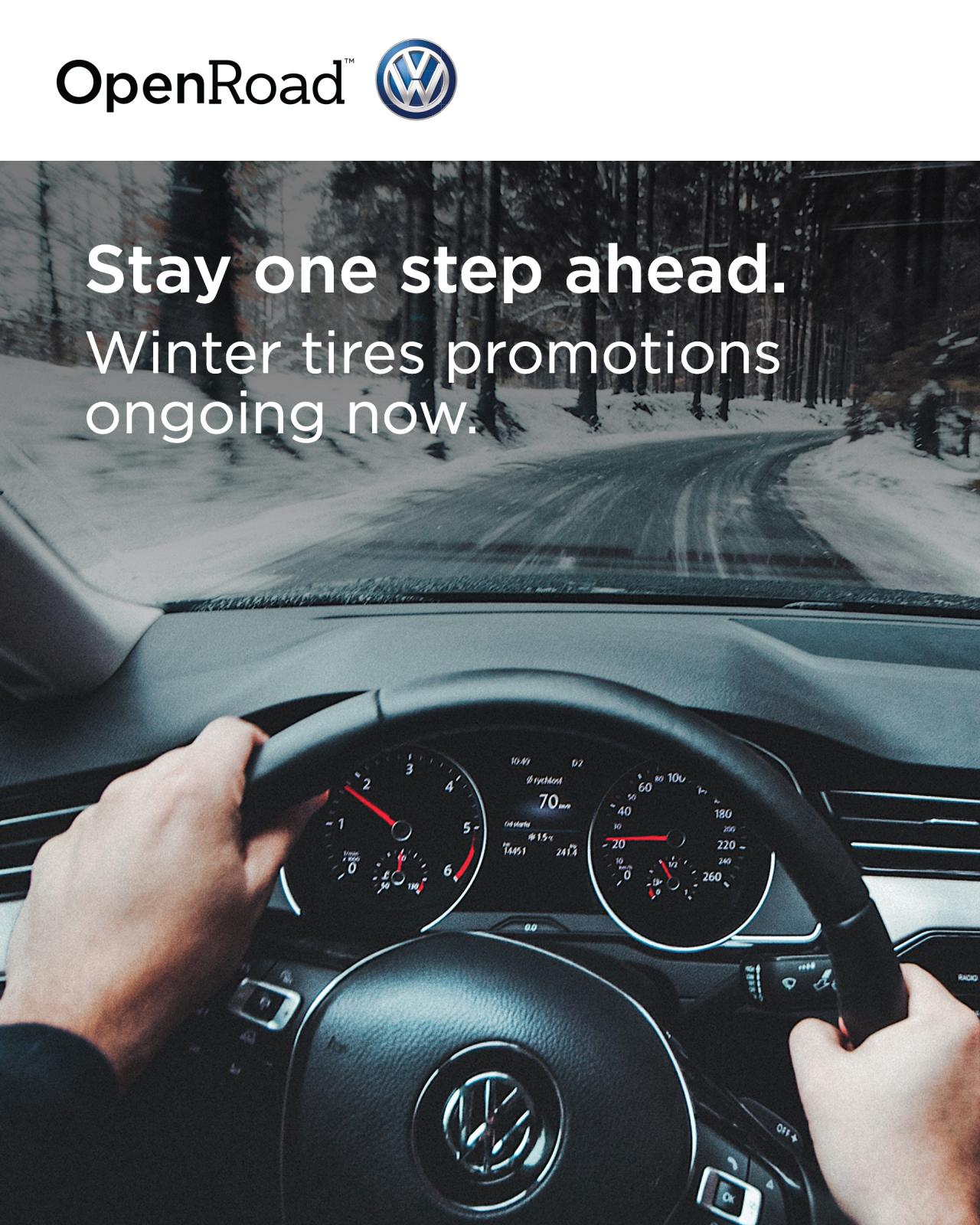 Seasonal Tire Offers at OpenRoad VW