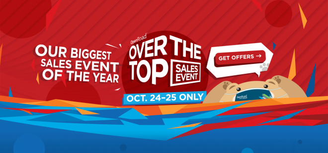 Over The Top Sale: Oct 24-25